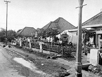 Japanese occupation of the Dutch East Indies - Internment camp in Jakarta, c. 1945