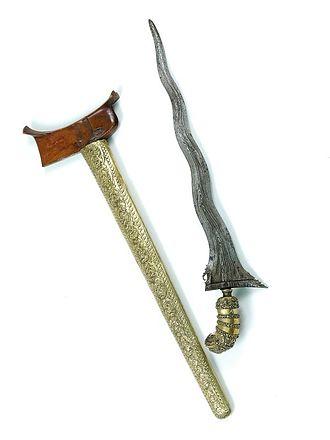 Kris - The kris consists of three parts; blade (wilah), hilt (hulu) and sheath (warangka)