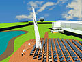 CSIRO ScienceImage 3178 High density solar tower field for the National Solar Energy Centre at the CSIRO Energy Centre Newcastle NSWbrDigital image by Cox Richardson Architects and Planners.jpg