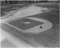 "CWA, FERA, ""Regulation soft ball diamond sodded and tiled"", Athletic field, Fairmont High School Dayton, Ohio - NARA - 196165.tif"
