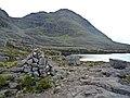 "Cairn marking ""path"" that circumnavigates Beinn Alligin - geograph.org.uk - 951539.jpg"