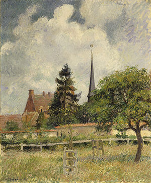 Éragny-sur-Epte - Image: Camille Pissarro The Church at Eragny Walters 372653