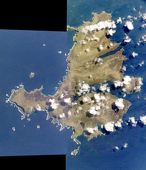 Campbell Island, New Zealand - Satellite view