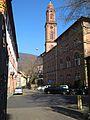 Campus Altstadt Heidelberg, Romanisches Seminar der Ruperto Carola, Italienzentrum – Centro Studi Italiano, Seminarstrasse Ecke Schulgasse, mit Blick auf die Jesuitenkirche .jpg