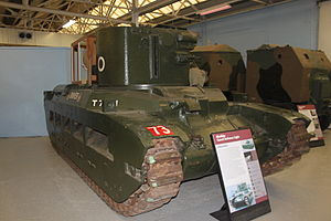 Canal Defence Light - CDL-equipped Matilda II on display at Bovington Tank Museum