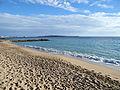 Cannes - Plage du Midi, la rade et les îles de Lérins.JPG