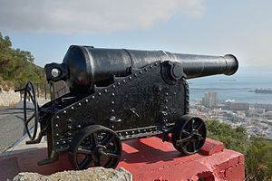 RML 64 pounder 58 cwt - Cannon in Gibraltar