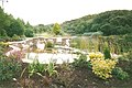 Canonteign Falls - The Lakes - 2000 - Lily Lake - footbridge (5371204828).jpg