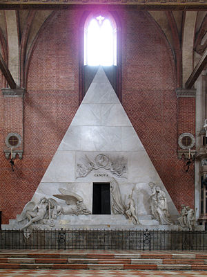 Monument to Antonio Canova in the church of Sa...