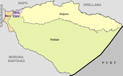 Cantons of Pastaza Province