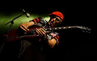 The Damned (band) - Captain Sensible of the Damned performing at Manchester Academy 2018