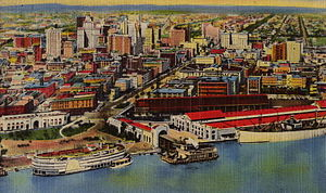 L&N Station (New Orleans) - Image: Card Riverfront Canal Ferry Air