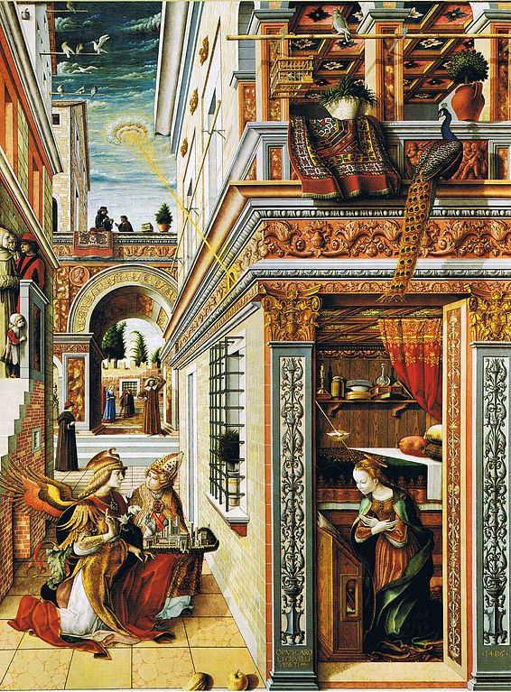 6 Pieces Of Ancient Artwork That Depict UFOs 566px-Carlo_Crivelli_Annunciation_with_St_Emidius_1486_London