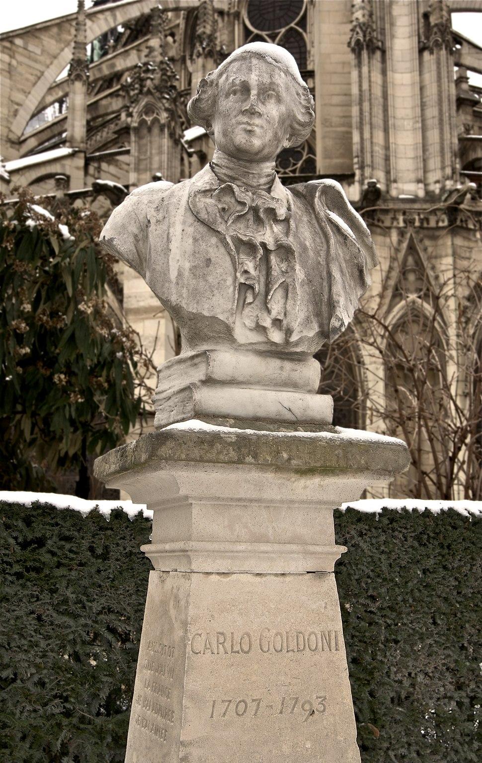Carlo Goldoni buste neige