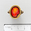 Carnelian oval set in a 17th–18th century gold ring MET DP111330.jpg