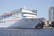 Carnival Inspiration at port in Tampa FL