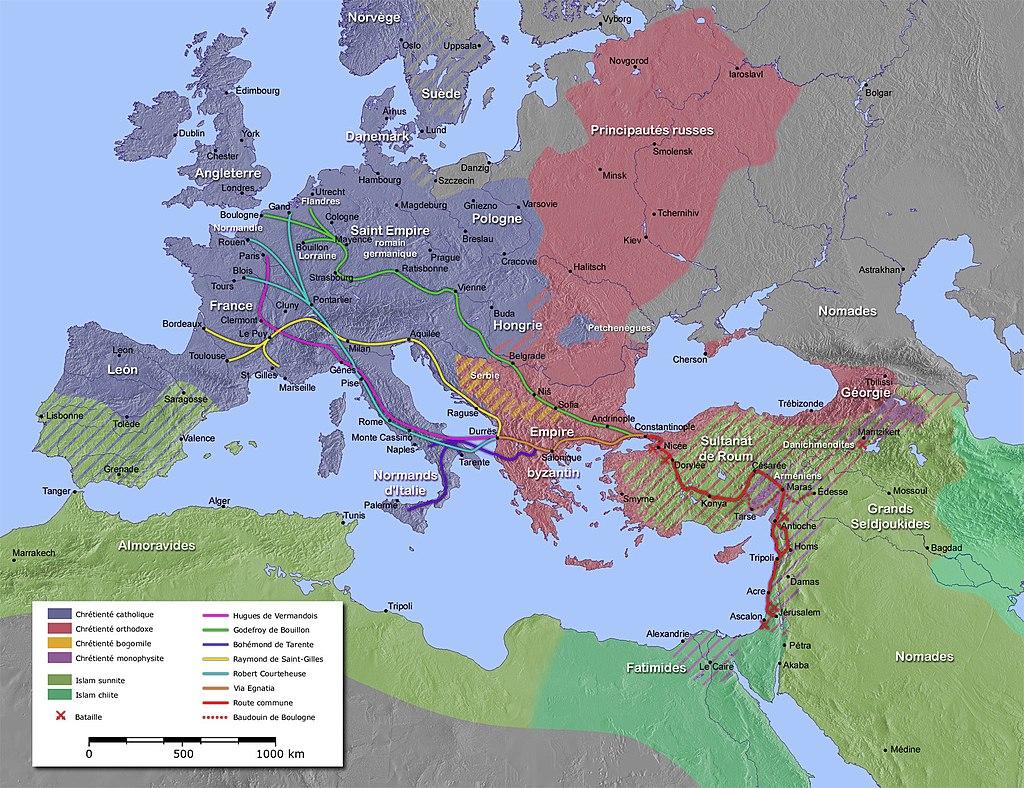 Carte de la premiere croisade
