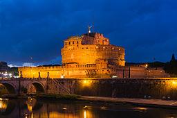 Castel Sant'Angelo at dusk, Rome, Italy