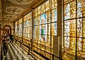 Castillo de Chapultepec, A wall of beautiful stained glass arrangements.jpg