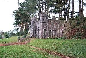 "Shaldon - ""Shaldon Castle"", a folly in Homeyards Botanical Gardens"