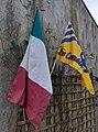 Castlerea St. Kevin's GAA flag & Roscommon GAA flag.jpg