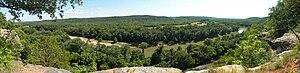 Castlewood State Park - Image: Castlewood SP Panorama 20090802