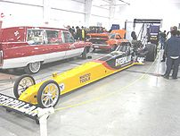 Caterpiller-sponsored dragster, probably gas o...