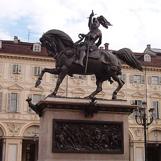 Emmanuel Philibert, Duke of Savoy - Image: Caval ëd Brons 001