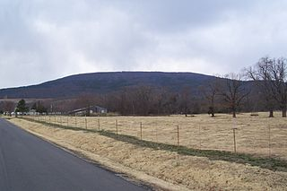 Cavanal Hill mountain in United States of America