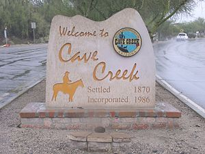 Cave Creek, Arizona - Welcome to Cave Creek Marker