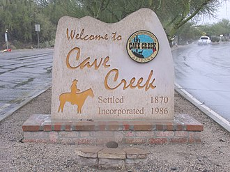 Cave Creek, Arizona - Welcome to Cave Creek Marker
