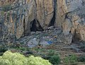 Cave where wine was made 6000 years ago, see archeologists working on site if viewed full size. - panoramio.jpg
