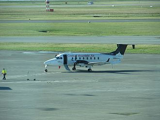 Central Mountain Air - A Central Mountain Air Beechcraft 1900 at Vancouver International Airport