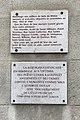 Centre d'histoire de la résistance et de la déportation (Lyon) -deux plaques en hommage aux victimes juives.JPG