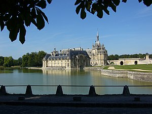 Chantilly, Oise - The Château de Chantilly seen from the road north of town