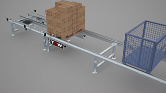 Chain conveyor - Chain conveyor for the transport of heavy unit loads