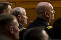 Chairman of the Joint Chiefs of Staff U.S. Army Gen. Martin E. Dempsey, center, sits on a panel of military leaders testifying about sexual assault in the military before the U.S. Senate Armed Services Committee 130604-A-HU462-394.jpg