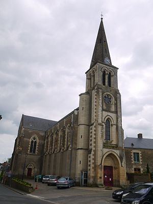 Chambellay - The church in Chambellay