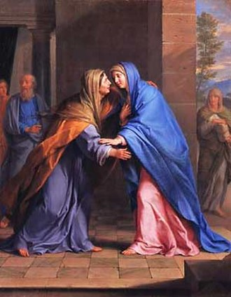 Elizabeth (biblical figure) - Elizabeth (left) visited by Mary, the Visitation, by Philippe de Champaigne
