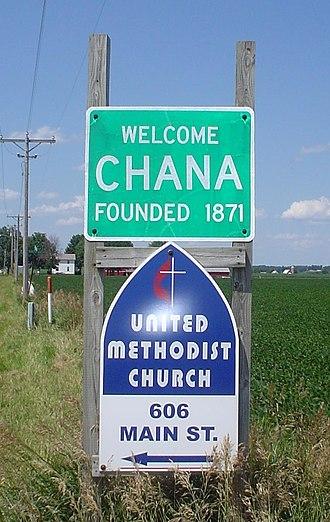 Chana, Illinois - Sign into Chana