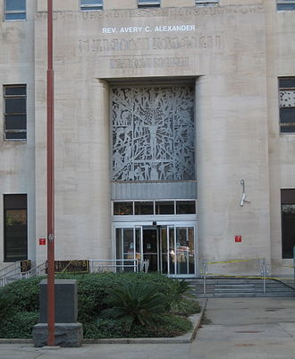 Charity Hospital (New Orleans) - Main entry of Charity Hospital