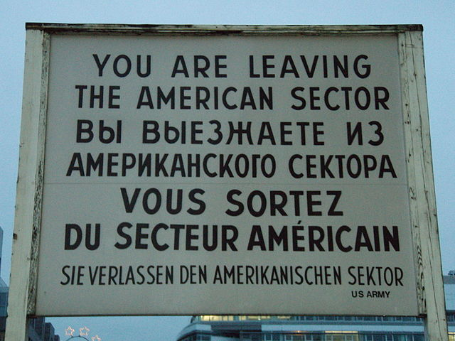 Check Point Charlie sign, Berlin Germany