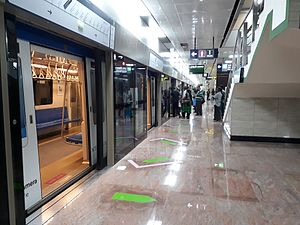 Chennai Metro - Fully enclosed platform screen doors installed in Chennai Metro's underground stations