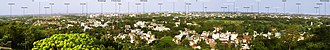 St. Thomas Mount - A panoramic view of the city of Chennai as seen from the top of St. Thomas Mount
