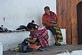 Chichicastenango market, three generations (15336478404).jpg
