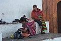Chichicastenango market, three generations (15336478404).jpg