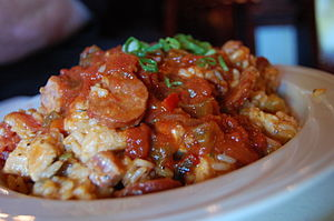 Jambalaya - Chicken jambalaya at a restaurant