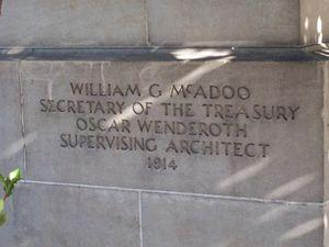 Chico Midtown Station - Architect's inscription