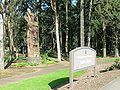Chief Kno-Tah with Shute Park sign - Hillsboro, Oregon.JPG