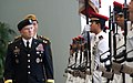 Chief of Staff of the Army Gen. George W. Casey Jr., inspects the Guard-of-Honor, at Ministry of Defense, in Singapore, Aug. 26, 2009 090826-A-VO565-001.jpg